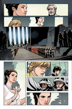 Princess Leia comic series... Take a sneak peek at Star Wars: Princess Leia #1 interior pages by Terry Dodson!