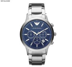 d1aa057f2b2 awesome New Emporio Armani EA Stainless Metal Silver Traditional Style  AR2448 Males s Watch Emporio Armani