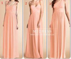 Peach bridesmaid dress, peach prom dress,more styles bridesmaid dress, floor length bridesmaid dresses, chiffon bridesmaid dress beach dress on Etsy, $99.00