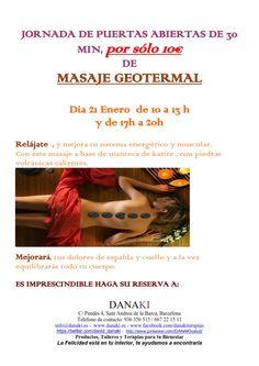 JORNADA PUERTAS ABIERTAS GEOTERMAL DANAKI http://www.danaki.es/puertas-abiertas-de-masaje-geotermal/
