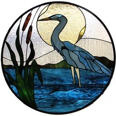 heron stained glass pattern - Google Search