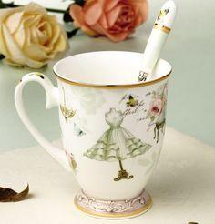 """""""Rainy Day"""" Cute Tea Cup"""