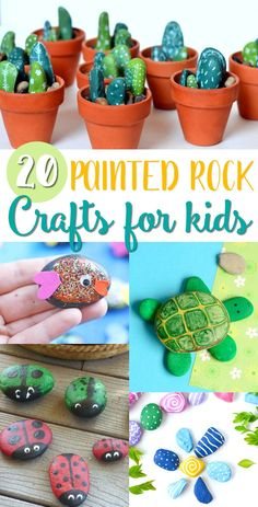 Cute Painted Rock Crafts for Kids - Easy Painted Rock Ideas