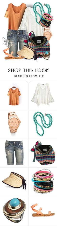 """Crochet Love"" by shuchiu ❤ liked on Polyvore featuring Calypso St. Barth, Marc by Marc Jacobs, Wet Seal, Billabong, H&M, Alexis Bittar, ALDO, crochet and denimshorts"