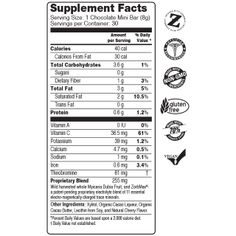 Mini Bars Supplement Facts