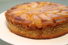 Pear & Almond Upside Down Cake Pear And Almond Cake, Almond Cakes, Pie Cake, No Bake Cake, Baking Recipes, Cake Recipes, Brownies, Cupcakes, Sweet Pie