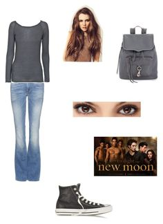 A fashion look from July 2014 featuring long sleeve tops, bootcut jeans and black sneakers. Browse and shop related looks. 2000s Fashion, Fashion Outfits, Twilight Outfits, Bella Swan, Fandom Outfits, Vintage Grunge, Disney Dresses, New Moon, Supernatural Films