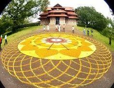 Biggest Pookkalam in Trissur Temple