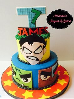Teen Titans Go! Birthday Cake by Melinda's Sugar & Spice