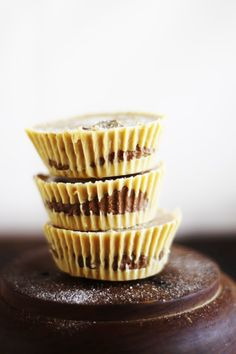 raw vegan peanut butter and chocolate butter cream cups