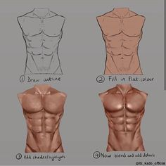 Drawing Tips Body Male Torso - Drawing Drawing Body Proportions, Shading Drawing, Body Reference Drawing, Guy Drawing, Art Reference Poses, Drawing Tips, Digital Painting Tutorials, Digital Art Tutorial, Art Tutorials