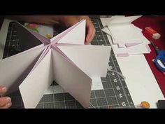 "(francais) Scrapbooking Tuto #2 de 9 ""Album Etoile avec interactions"" - YouTube Mini Albums, Bookbinding Tutorial, Wedding Boxes, Scrapbook Albums, Shadow Box, Diy For Kids, Pop Up, Creations, France"