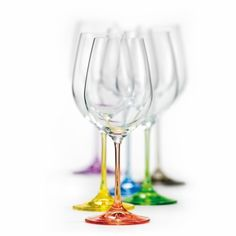 Bohemian Crystal Set of 6 White Wine Crystal Glasses 12 Oz Each Stem Different Color Czech Republic LEAD FREE Crystalex http://www.amazon.com/dp/B00CEL3NBG/ref=cm_sw_r_pi_dp_6V4Ktb069ZPMN0DW