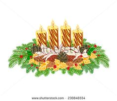 Christmas decoration Advent wreath with pine cones vector image on VectorStock Christmas Candles, Gold Christmas, Christmas Decorations, Christmas Information, Advent Wreath, Gold Candles, Pine Cones, Vector Free, Projects To Try