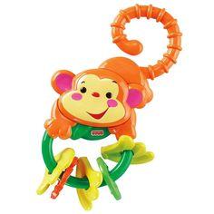 Os bebês necessitam de muito amor, carinho e atenção em todos os momentos, e também é importante estimulá-los para que eles possam se desenvolver da melhor forma possível.     Os pequeninos adoram se distrair com chocalhos e mordedores de diversas cores e formatos.     A Fisher-Price é referência em produtos para bebês, desenvolvendo brinquedos divertidos, com qualidade e que proporcionam muito bem-estar para os pequeninos.