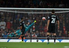 Cech then made an outstanding save to tip Coutinho's goalbound bending shot on to the post...