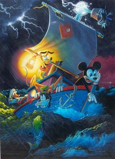 Mickey Mouse on the Rocks. Mickey, Donald Duck, Goofy & Pluto on a cruise they'll never forget..