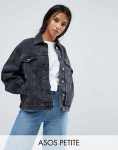 Veste en jean noire oversize
