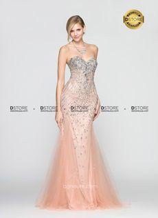 Vestido de Festa Longo Bordado Sereia Sandy G3501 : Dstore Miami, Vestidos de Festa Importados