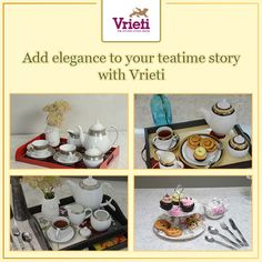 Designs that reflect the British tea heritage! #Vrieti brings you a collection of exquisite fine-China tea story #products that will add a touch of #British elegance to your #home.  Enquire now- +91 120 4311245 or send your queries to Whatsapp no. +91 8744883737  #HomeDecor #TeaService #TeaSet #Festiveseason #offers