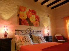 Dormitorio - Casa Rural en El Roque (Cotillo), Fuerteventura, Casa rural con piscina privada: 2 dormitorios, uno - Niumba