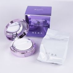 Hera UV Mist Cushion Ultra Moisture Beige Made in Korea Too Faced Foundation, Face Foundation, Korea Makeup, Korean Products, Smooth Face, Pretty Packaging, Freundlich, Korean Skincare, Makeup Tools