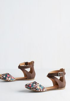 Floral Intents and Purposes Flat, @ModCloth