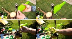 DIY: Plastic Bottles turned into string in plastics diy  with string Recycled Plastic bottles DIY