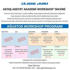 Assyst Workshop Takvimi  (Ağustos 2016)