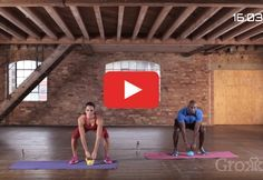 Hit the mat and break a sweat with this workout that combines cardio and strength. http://greatist.com/move/kettlebell-workout-quick-total-body-routine