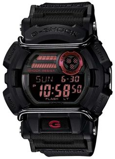 Casio G-Shock GD400-1CR Classic Digital Black/Red Watch w/ Protector GD400-1