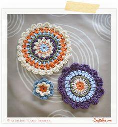 Crafteina: En proceso ✿ Work in progress Crochet Mandalas and flowers