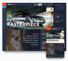 Advertisement banner space design on Ipoh Echo Newspaper Portal