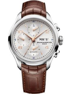 Baume & Mercier Clifton Chronograph. Baume & Mercier expect the watch to be available in April 2014, retailing at $3,900 – $4,200. #SIHH2014