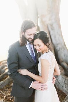 Wedding Photography Inspiration : Go With The Flow Purple And Blue Library Wedding In California