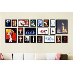 Home Decor - Picture Frames - Modern Photo Wall Frame Collection-Set of 20 PM-20A a