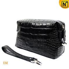 Designer Men S Bags Fashion Crocodile Embossed Black Leather Clutch Cw968828 198 79 Www Cwmalls