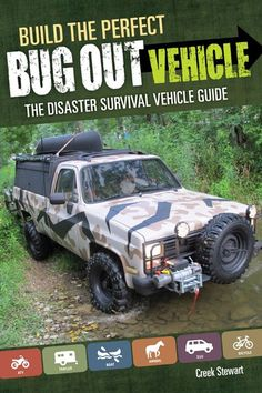 """Read """"Build the Perfect Bug Out Vehicle The Disaster Survival Vehicle Guide"""" by Creek Stewart available from Rakuten Kobo. Outfit a Disaster-Escape Vehicle! If an unexpected disaster forces you to suddenly evacuate from your home, is your vehi. Survival Blog, Survival Supplies, Survival Quotes, Survival Prepping, Emergency Preparedness, Survival Gear, Survival Skills, Car Survival Kits, Survival Stuff"""