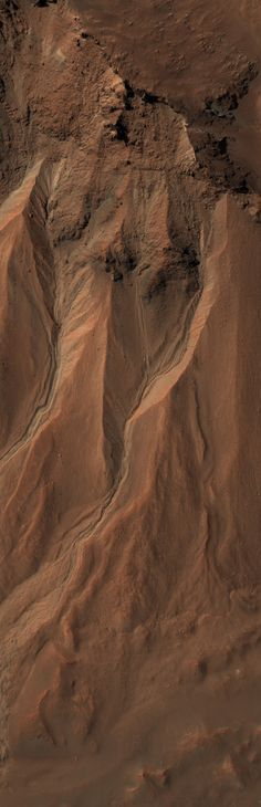 Gullies at the Edge of Hale Crater, Mars.