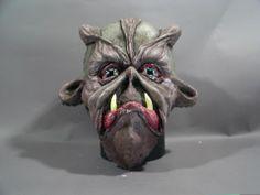 Wall mounted mask.
