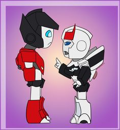 Punishment by CherryOreos.deviantart.com on @deviantART. I love how Prowl is shorter than Sideswipe but is still chewing him out :)
