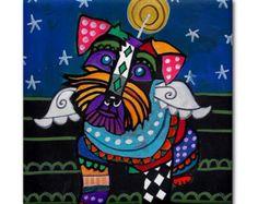 Baldosa de cerámica de arte popular mexicano por HeatherGallerArt
