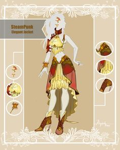 CLOSED Adoptable Outfit Auction: Steampunk Elegant by Hassly.deviantart.com on @DeviantArt
