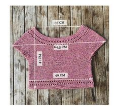 blusita a crochet Col Crochet, Crochet T Shirts, Crochet Crop Top, Crochet Woman, Crochet Cardigan, Crochet Clothes, Crochet Bikini, Beautiful Crochet, Top Pattern