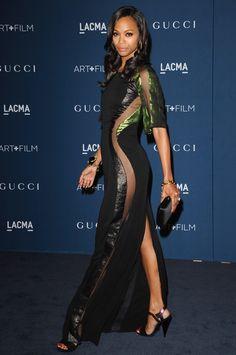 Zoe Saldana in Gucci
