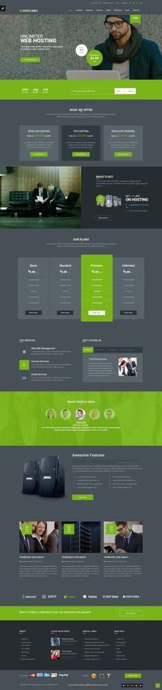 Hostlinea Wonderful Web Hosting, Responsive #HTML5 Template > It comes with…