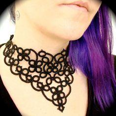 Tatuado encaje gargantilla Collar - cuatro rollos