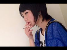 Sweet Japanese girl smoking 17