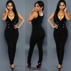 5b64591ac  20.08 - Nice Sexy Womens sleeveless Bandage Bodycon Jumpsuit Romper  Trousers Clubwear - Buy it Now