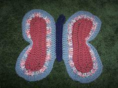 Butterfly Rag Rug free crochet pattern